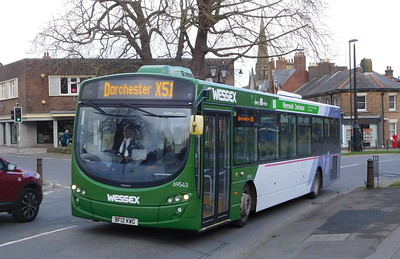 First Wessex 69543 - BF12KWG - Dorchester (Weymouth Avenue)