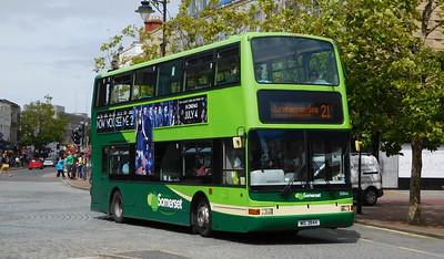 Buses of  32844 - MIG3844 - Taunton (Parade)