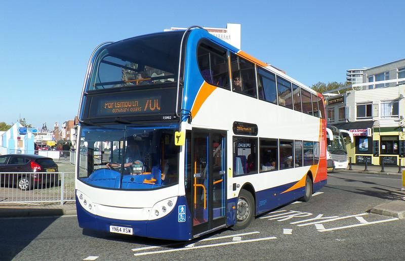 Stagecoach in Portsmouth 15992 - YN64XSW - Portsmouth (The Hard) - 27.10.14