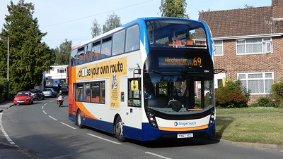 Stagecoach in Hampshire 10894 - YX67VCG - Fair Oak (Fair Oak Road)