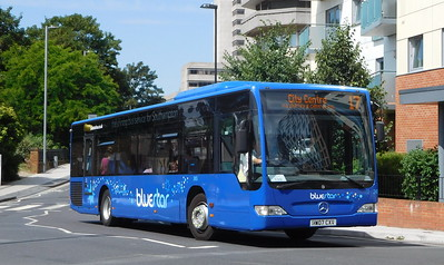 BlueStar 2455 - HW07CXV - Southampton (Central railway station)