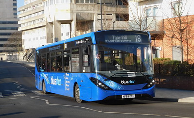 BlueStar 2733 - HF65CXE - Southampton (Central railway station)