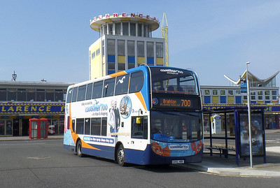 Stagecoach South 15595 - GX10HBO - Southsea (Clarence Pier) - 29.3.14