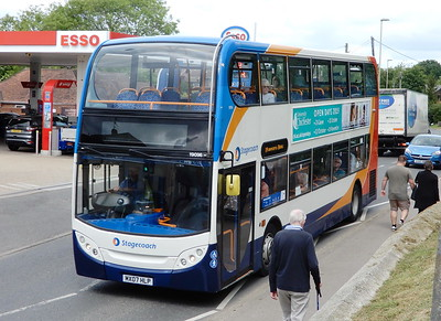 Stagecoach in Hampshire 19096 - MX07HLP - Fair Oak (Winchester Road)