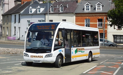 Edwards Brothers YJ17CPY - Haverfordwest (bus station)