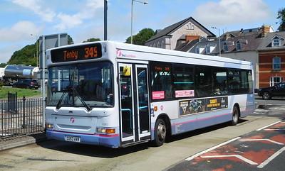 First Cymru 42867 - CU53AVR - Haverfordwest (bus station)