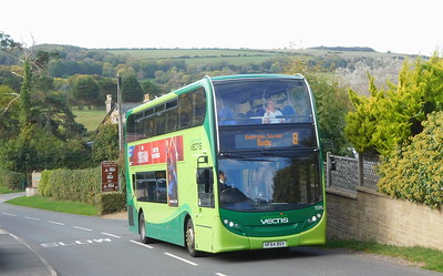 Southern Vectis 1595 - HF64BSV - Whitecliff Bay (Hillway Road)