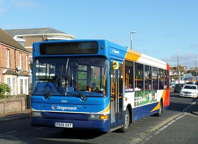 Stagecoach South 34684 - PX05EKT - Chichester (Stockbridge Road) - 28.10.14