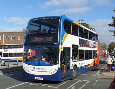 Stagecoach South 10009 - GX12DXR - Chichester (Basin Road) - 28.10.14