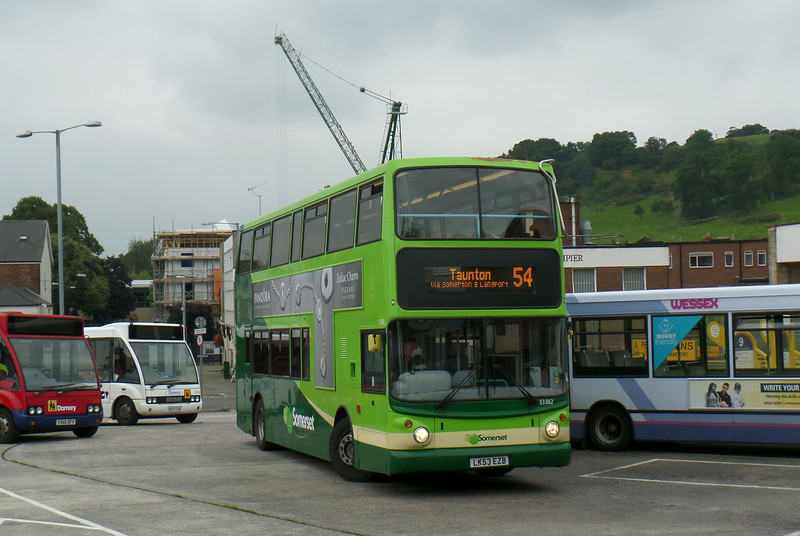 Buses of Somerset 33382 - LK53EZB - Yeovil (bus station) - 27.8.14