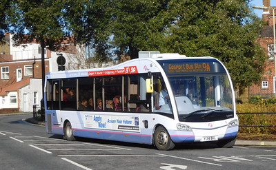 First Solent 53607 - YJ14BKL - Fareham (Hartlands Road)