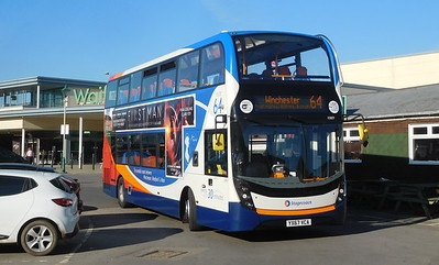 Stagecoach South 10889 - YX67VCA - Alton (railway station)
