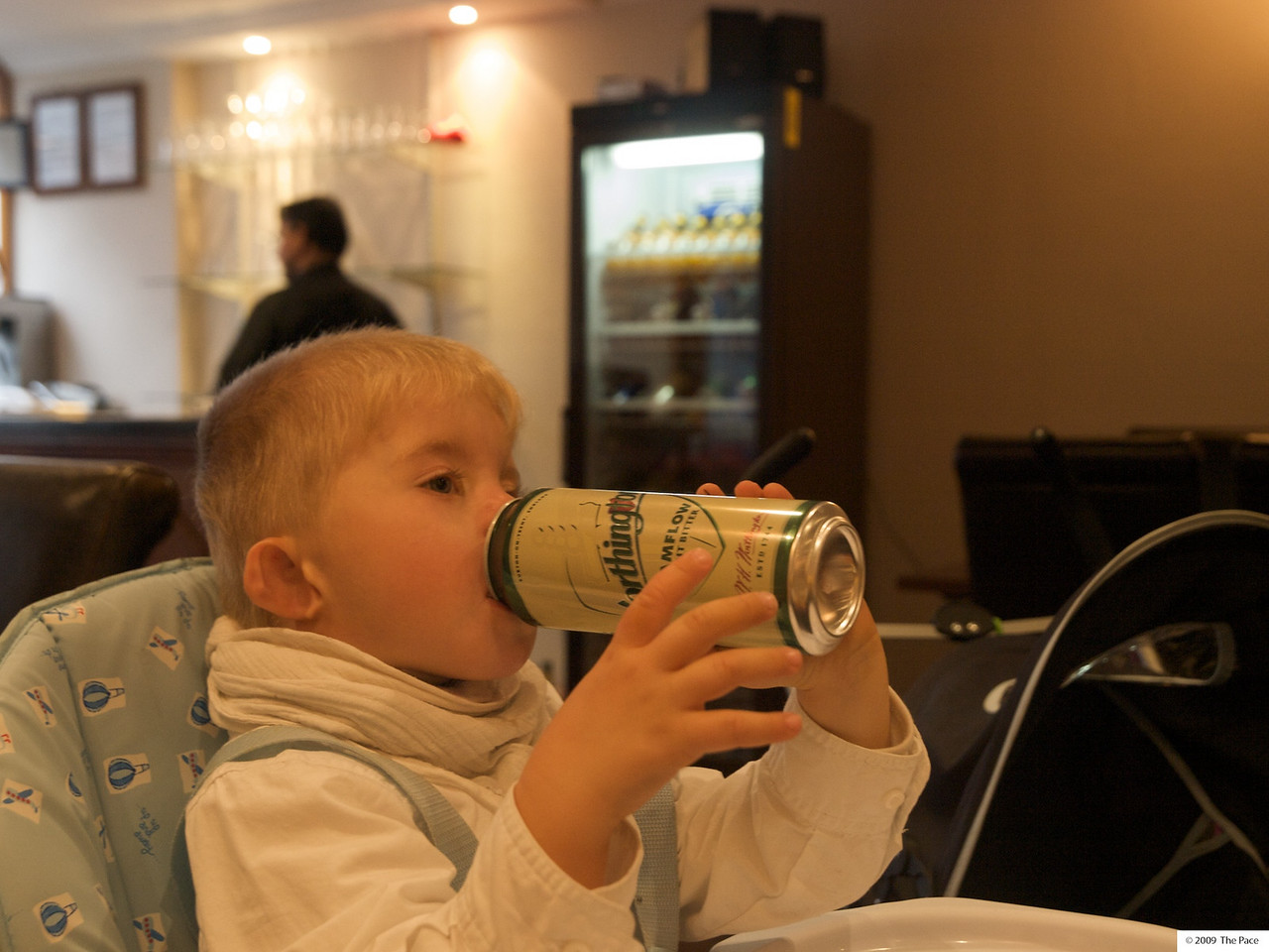 Monday 11th Oct 2009 - Cai starts drinking at the most inappropriate time