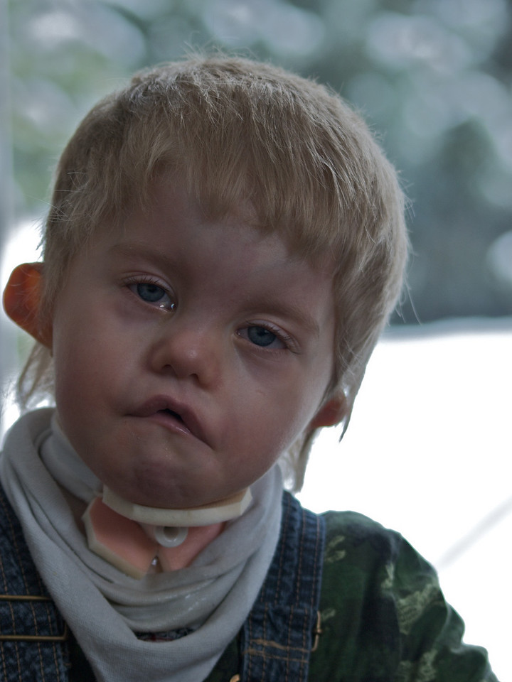 Sunday 11th Jan 2009 - We may not be able to hear Cai cry, but we can certainly tell when he is upset.