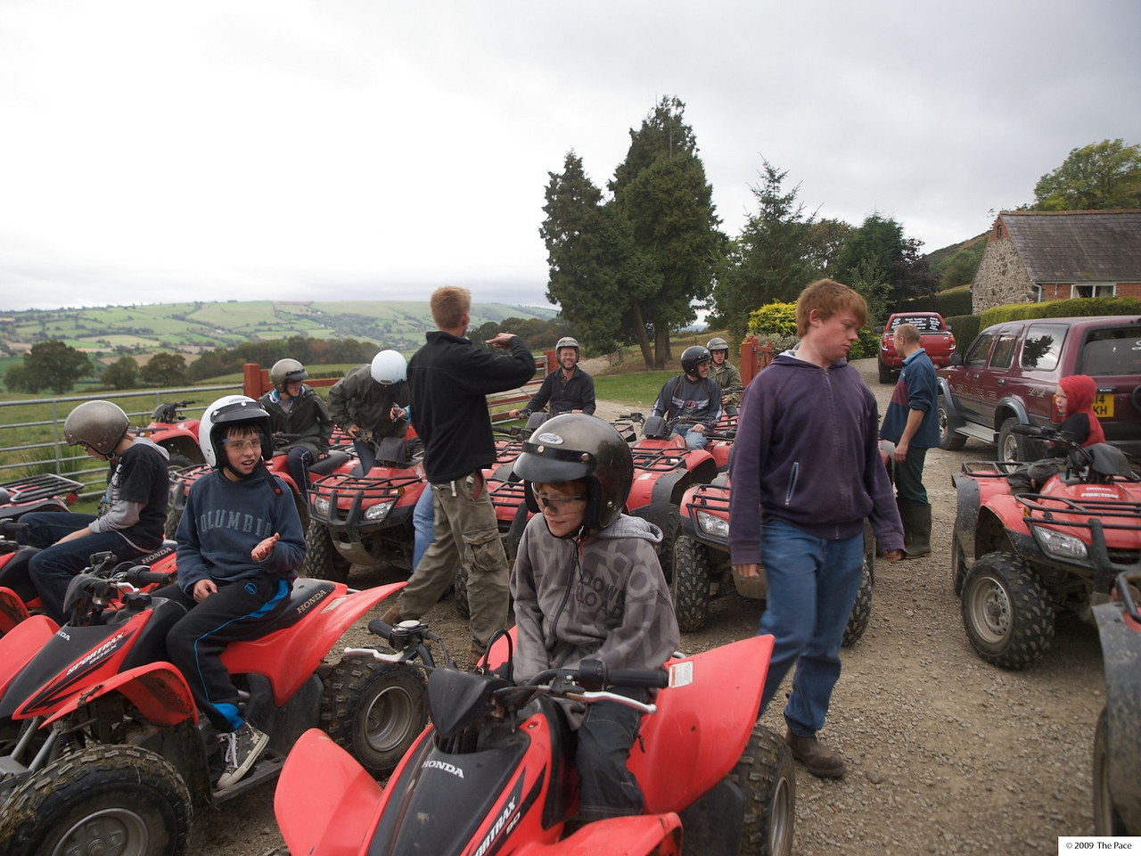 Monday 11th Oct 2009 - I organise a group quad trekking event