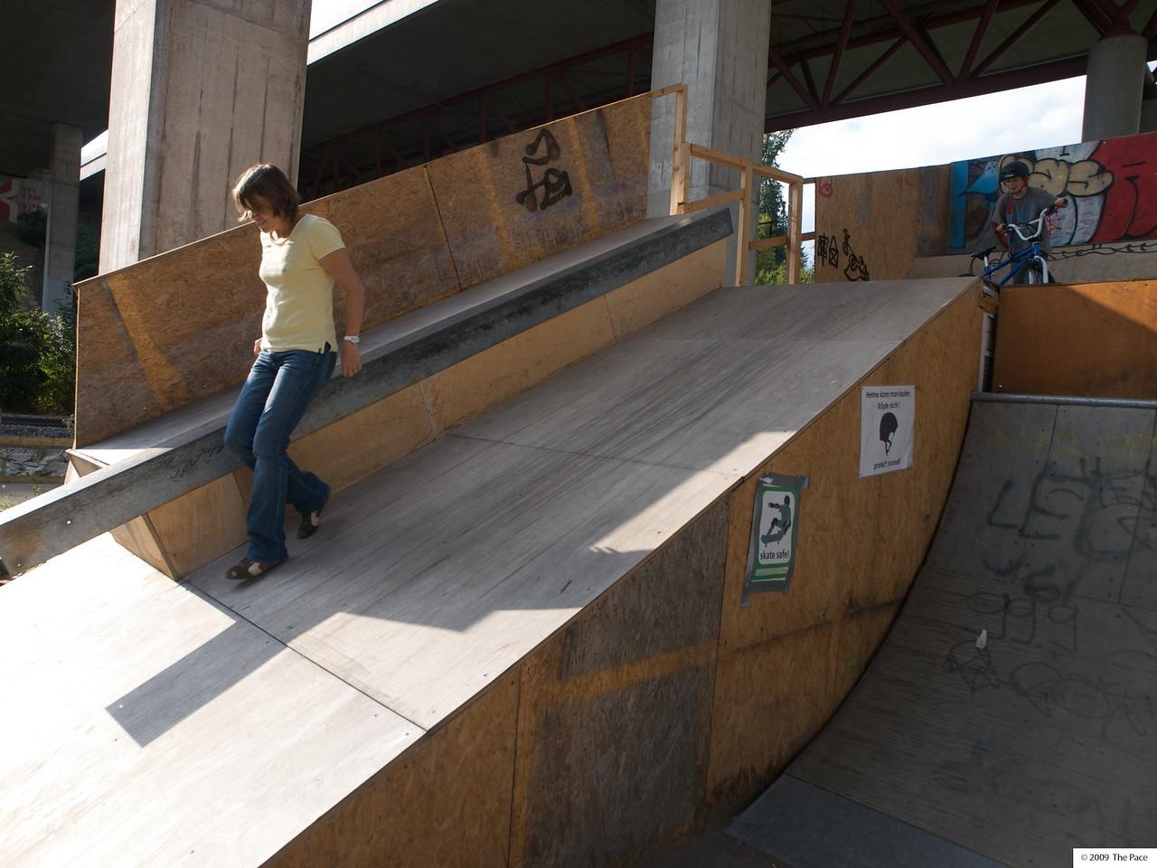 Thursday 17th Sept 2009 - Kerstin has lost her skateboard
