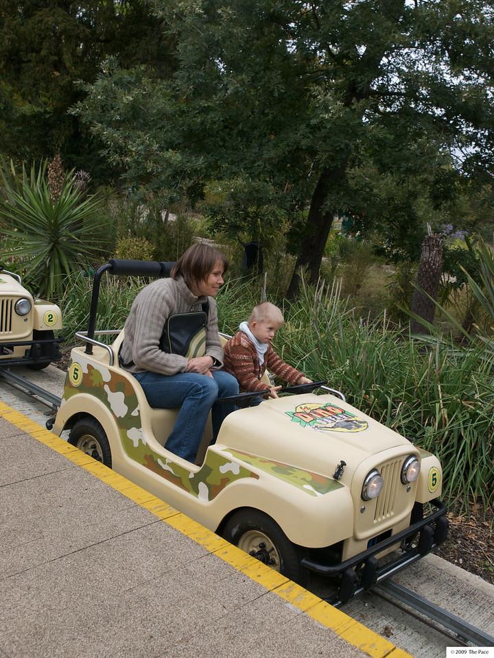 "Sunday 11th Oct 2009 - Cai loved ""driving"" through the safari park"