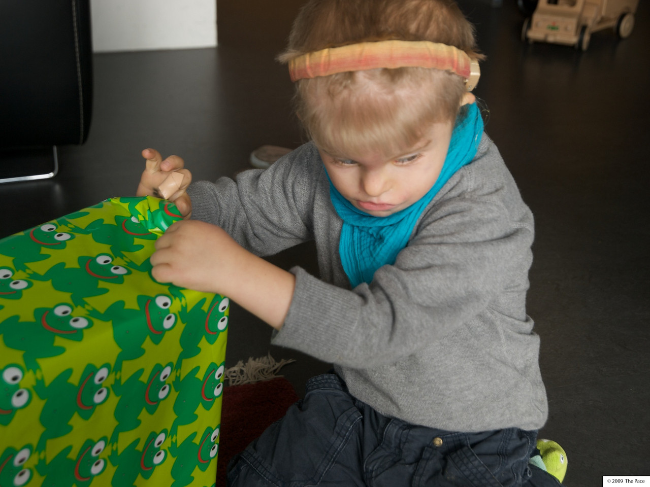 Monday 19th Oct 2009 - Cai wonders if he really should open his present