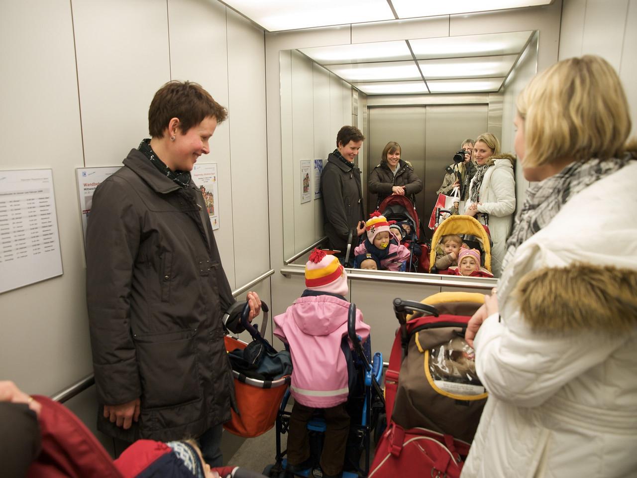 Sunday 22nd fe 2009 - a lift full of children