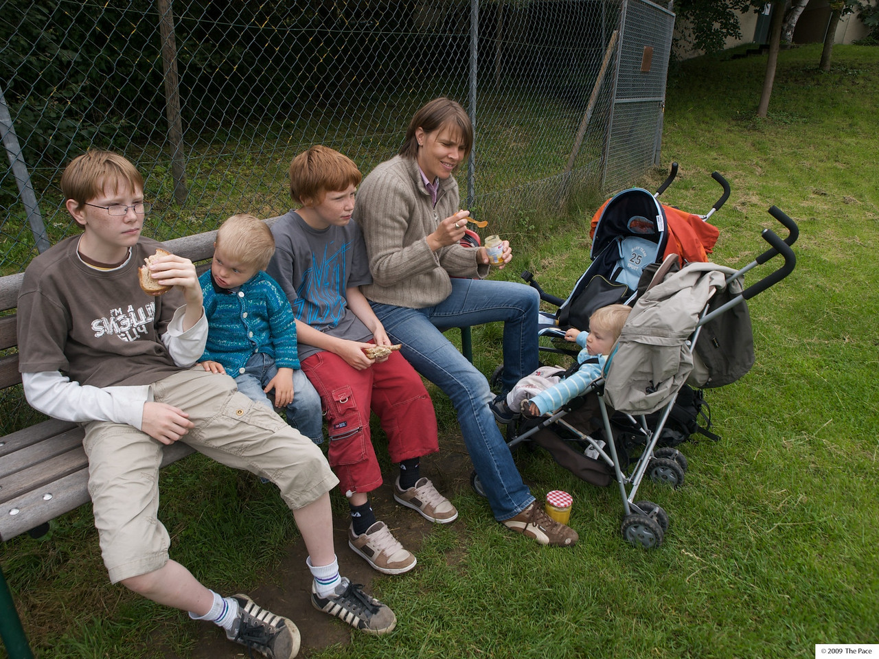 Wednesday 29th July 2009 - Having a picknick in affenberg (monkey mountain) in germany