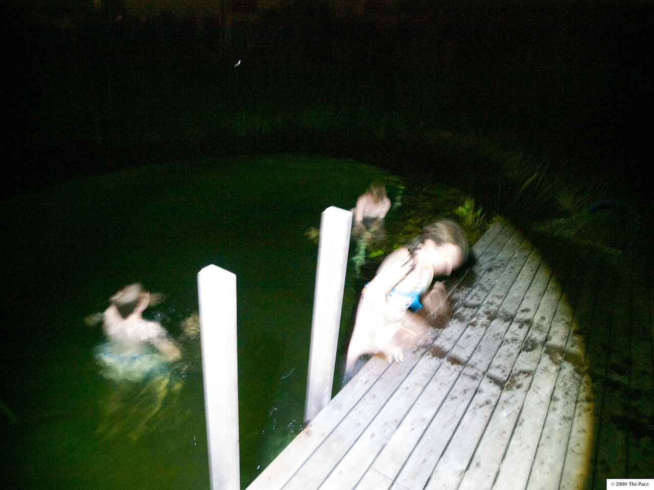 Monday 3rd August 2009 - after the fireworks what better way to cool down than a nightime swim