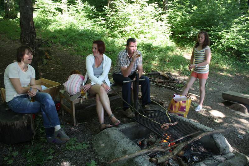 Sunday 1st August 2010 - There is nothing like a BBq in the forest