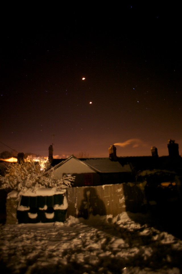 Thursday 30th December 2010 - The two lanterns float away