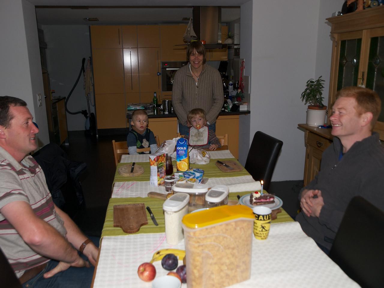 Friday 29th Oct 2010 - John enjoys his 50th Birthday cake