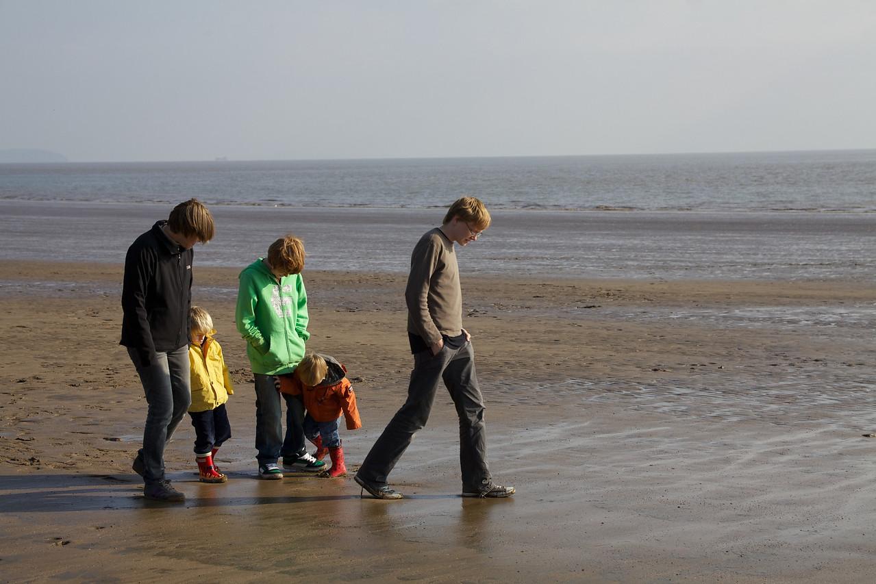 Monday 18th October 2010 - enjoying a walk on Barry island beach
