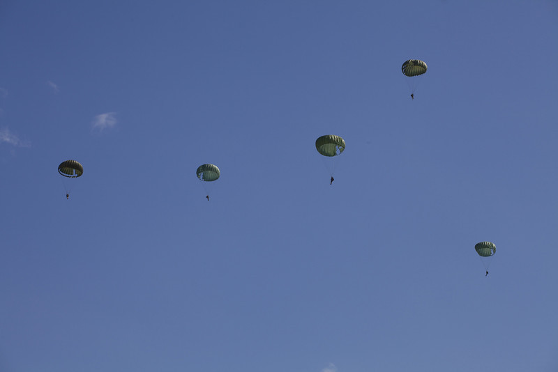 Sunday 8th August 2010 - Parachutists at the old timers military show