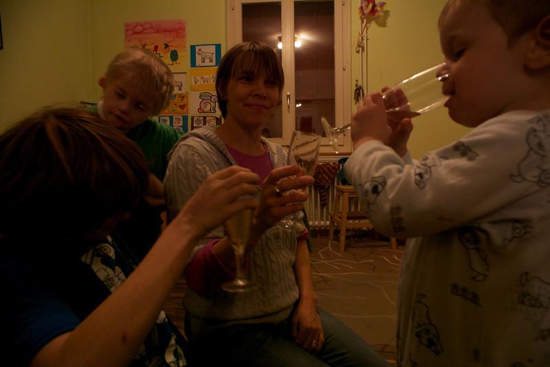 Thursday 30th December 2010 - Luc enjoys a tipple