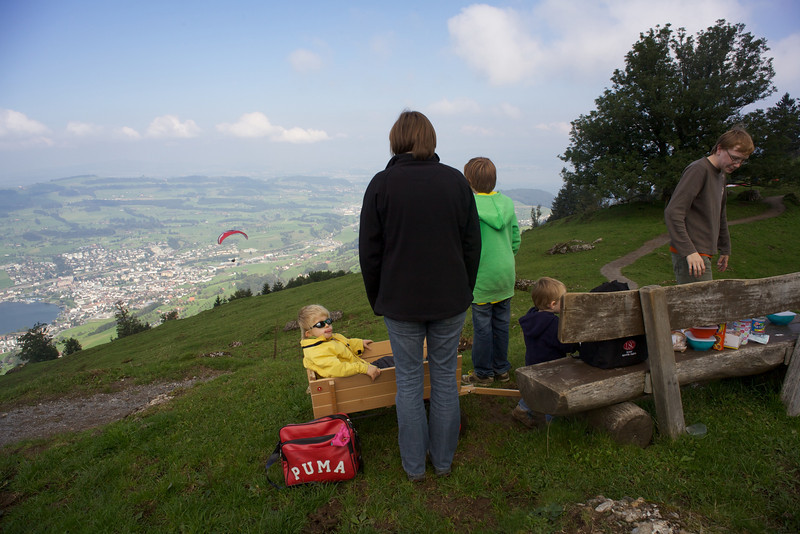 Sunday 17th Sept 2010 - Watching the paragliders