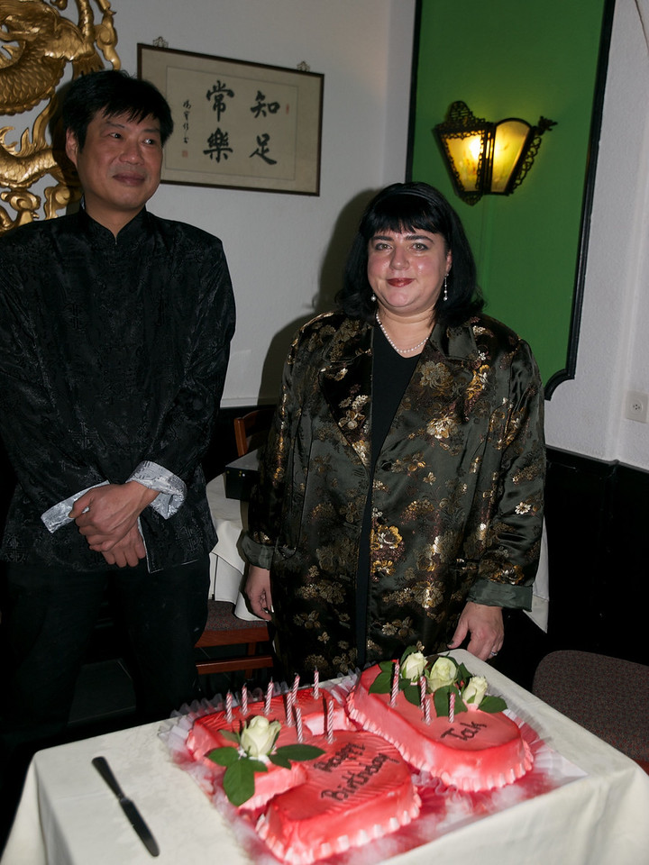 Sunday 12th December 2010 - The cake, Tak and his wife.