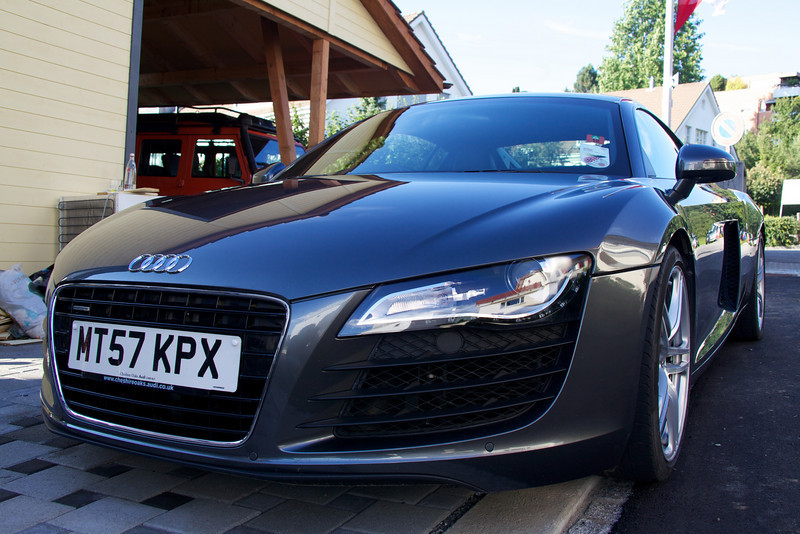Sunday 5th Sept 2010 - Another angle, as it was the cause of quite a lot of interest while it was parked outside our house, here is another photo of the R8