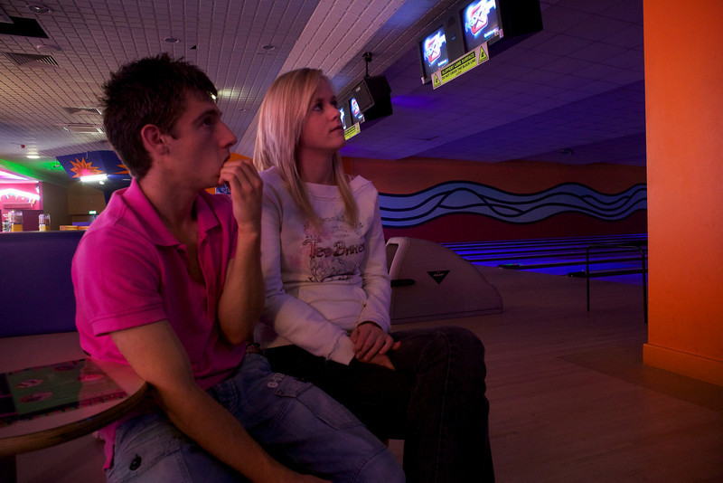 Monday 18th October 2010 - Mike my eldest son brings his girlfriend to meet us as we went 10 pin bowling