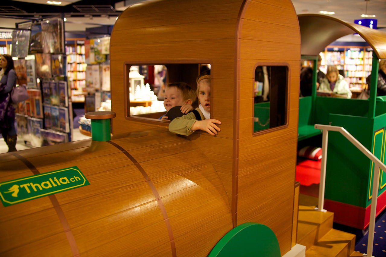Sunday 19th December 2010 - All Aboard, Cai and Luc steal a train from the bookshop and attempt to make a quick getaway