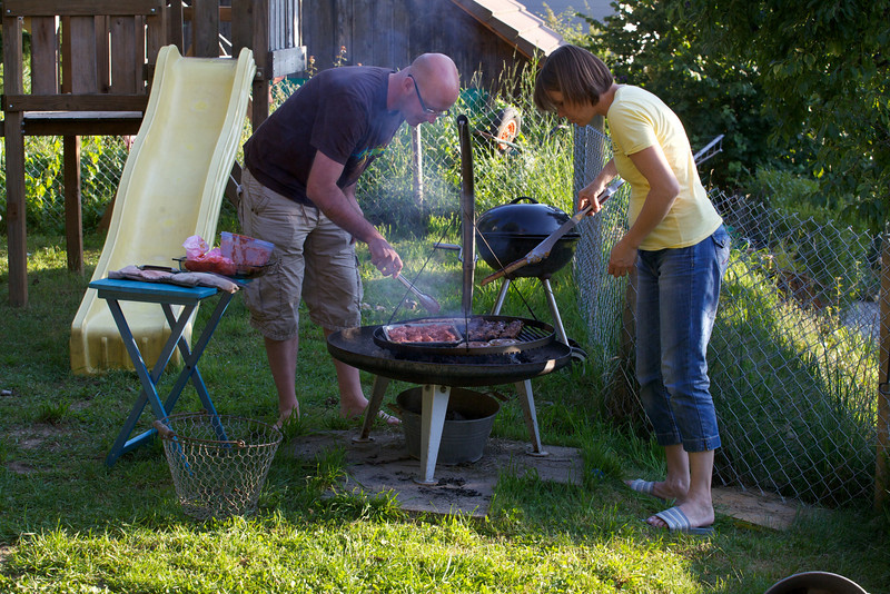Monday 8th Aug 2011 - Kerstin doesn't fully trust Chris to cook ;-)