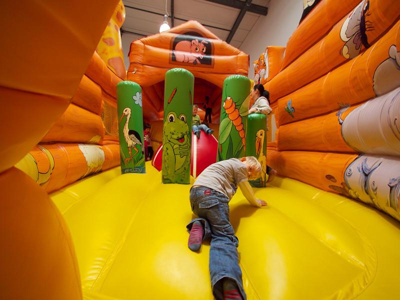 Sunday 18th Sept 2011 - Cai enters the bouncy castle