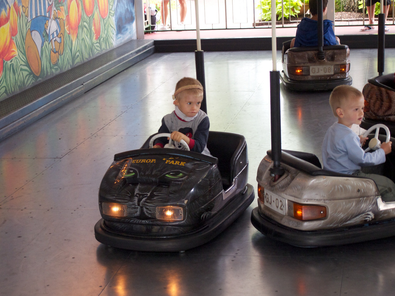 Sunday 17th July 2011 - Cai and Luc try the dodgems