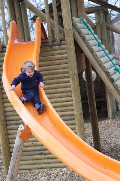 Monday 28th March 2011 - Luc wishes he had a slide at home