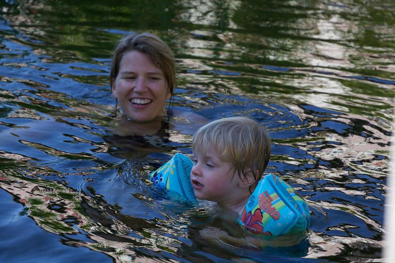 Monday 8th Aug 2011 - Luc enjoys a splash