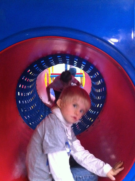 Sunday 18th Sept 2011 - One of the duties as a parent is to follow your children through the huge climbing/play area