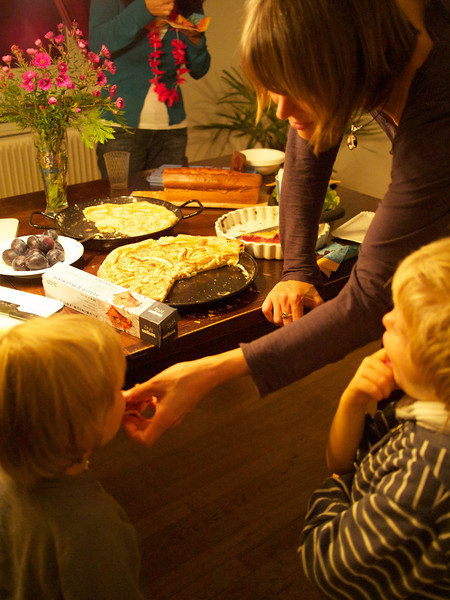 Tuesday 27th Sept 2011 - Luc tries some cake at one of Kerstin's friends party