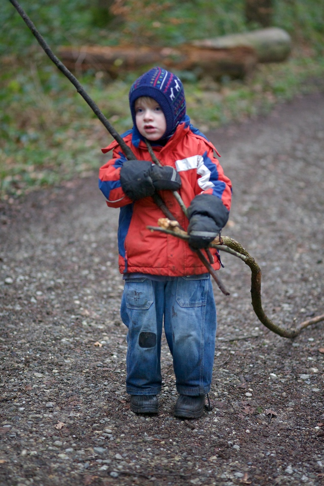 Monday 30th Jan 2012 - Why carry a small stick when you can struggle with big ones