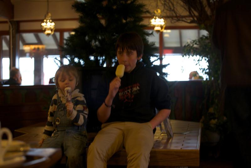 Sunday 19th Feb 2012 -  Boys and icecream
