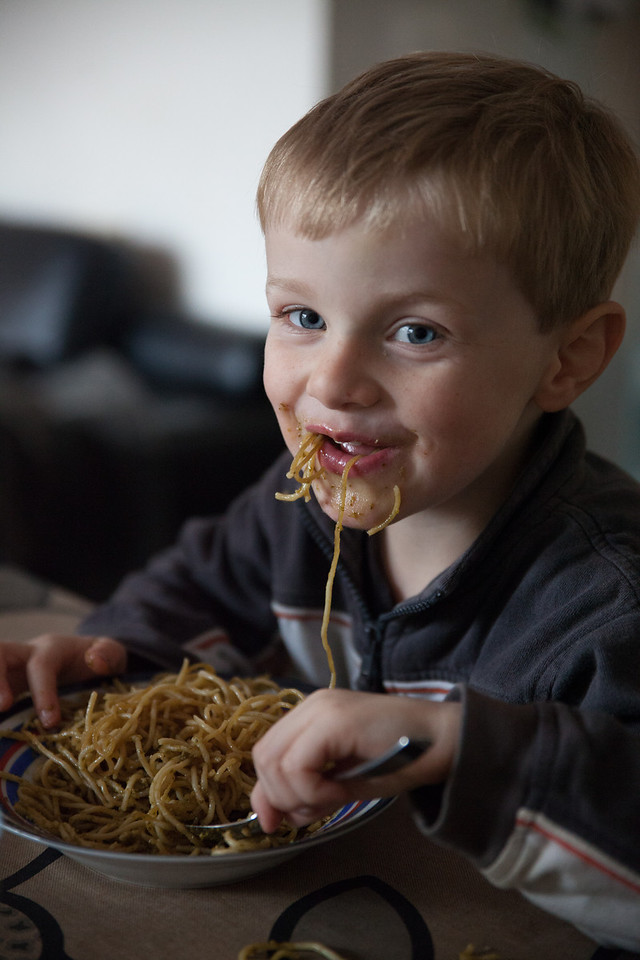 Sunday 25th November 2012 - Thats not how you eat spagetti is it Luc