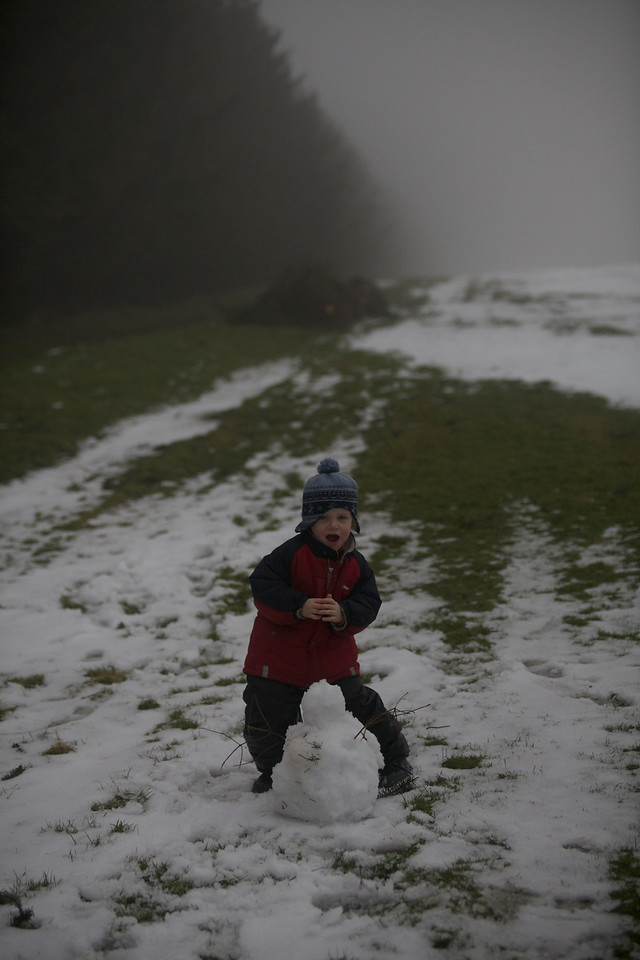 Sunday 19th Feb 2012 - Even in Wales you can build snowmen