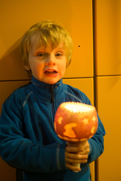 11th November - Luc with his pumpkin candle