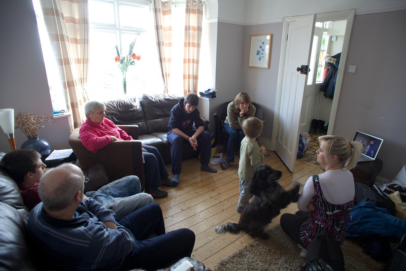 Sunday 19th Feb 2012 - All apart from MIke enjoy watching his first school christmas concert