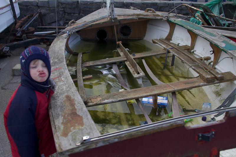Sunday 19th Feb 2012 - Luc does an impression of a fish as he asks why the boat is kaputt!